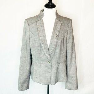 White House Black Market Suit Jacket Gray 14